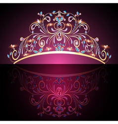 crown tiara womens gold vector image vector image