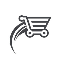 fast shopping cart icon vector image