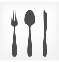 Fork spoon and knife set vector image