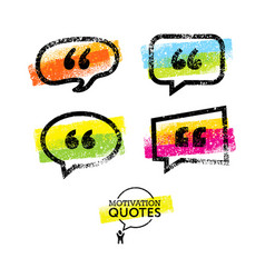 set of quote bubbles templates bright vector image vector image