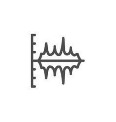 sound graph line icon vector image