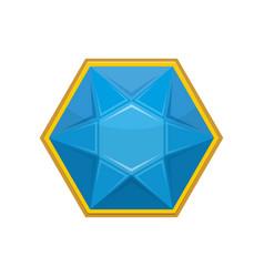 topaz gemstone isolated jewelry blue stone on vector image