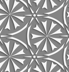 White geometrical flowers and stars seamless vector image vector image