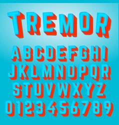 Alphabet font tremor design vector