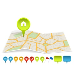 city map with labels vector image vector image