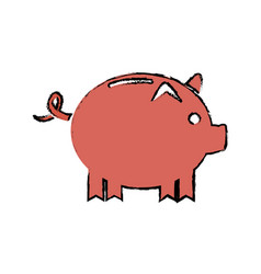drawing piggy banking concept safety money vector image vector image