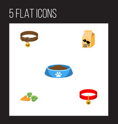 flat icon pets set of root vegetable nutrition vector image vector image