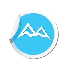 mountain icon round blue vector image