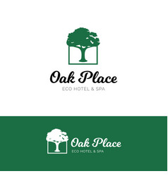 oak logo for hotel and spa salon vector image