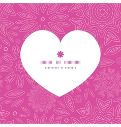 pink abstract flowers texture heart silhouette vector image vector image