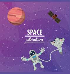 astronaut space advernture vector image vector image