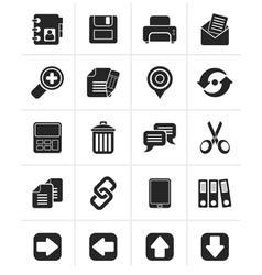 Black internet Interface Icons vector image vector image
