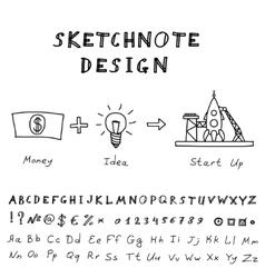 Doodle Start Up Design vector image
