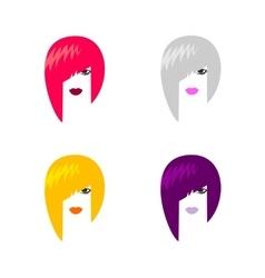 Head of woman vector image vector image