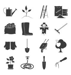 Icons Gardening Equipment vector image vector image