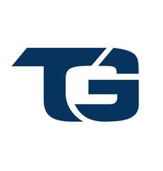 letter tg logo icon design vector image vector image