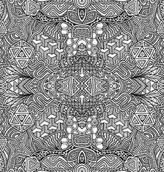 monochrome hand drawn seamless zentangle pattern vector image