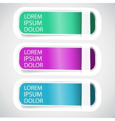 Multicolored Tab Banner Elements vector image