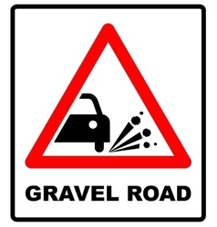 Set of variants a Blowout of gravel - road sign vector image vector image