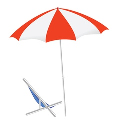 umbrella and chairs on the beach vector image