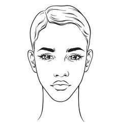 beautiful african american woman portrait vector image vector image