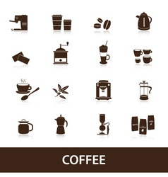 coffee icons set eps10 vector image