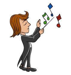 conductor bandmaster vector image