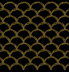 gold glitter mermaid tail seamless pattern vector image
