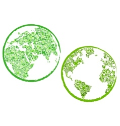 Green Eco Globes vector image
