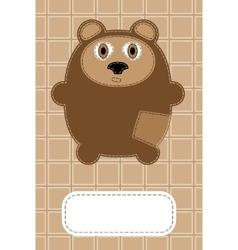 hand drawn bear vector image vector image