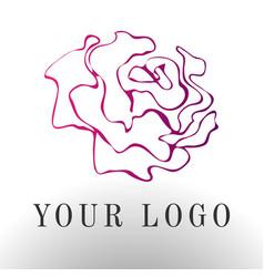 Red rose logo - emblem design vector