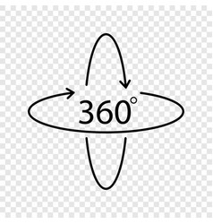 360 degree icon vector