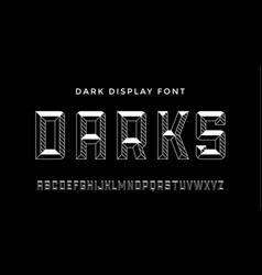 3d modern font dark modern line alphabet vector