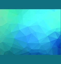 abstract blue green background with triangles vector image