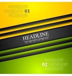 Abstract bright tech corporate background vector