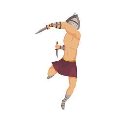 Ancient rome gladiator roman warrior vector