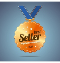 Best seller award medal vector image