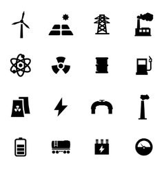 black energetics icon set vector image