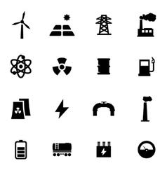 Black energetics icon set vector