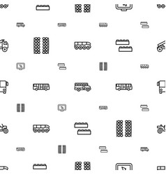 bus icons pattern seamless white background vector image