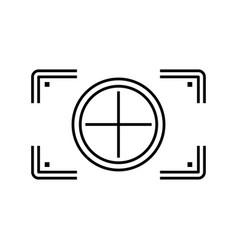 Camera focus rectangular vector