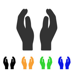 care hands icon vector image