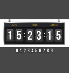 creative of digital clock vector image
