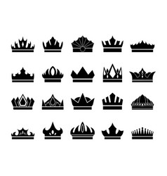 crowns icon vector image