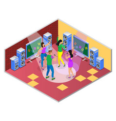 Dance song party composition vector
