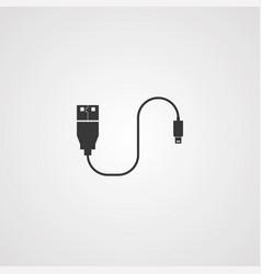 data cable icon sign symbol vector image
