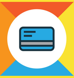 debit card colorful outline symbol premium vector image