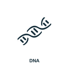 Dna icon set four elements in different styles vector