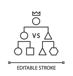 Double-elimination tournament linear icon vector