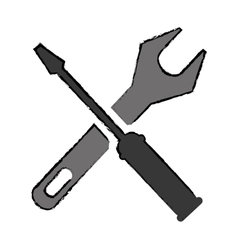 Drawing support repair tools sign icon vector